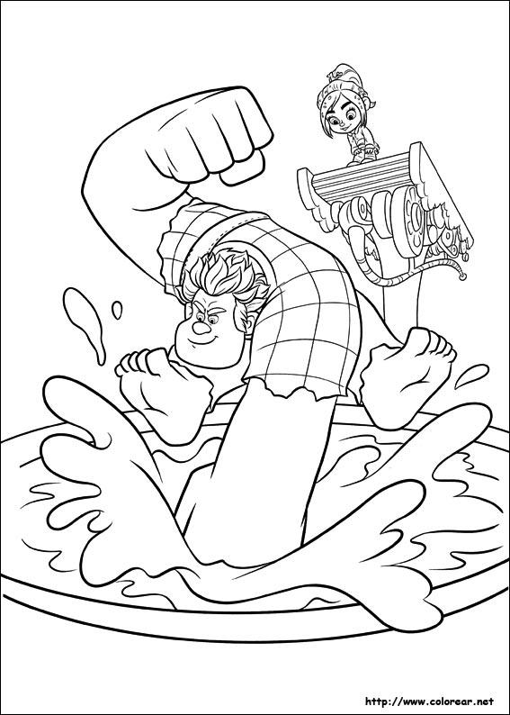 Dibujos Para Colorear De Ralph El Demoledor