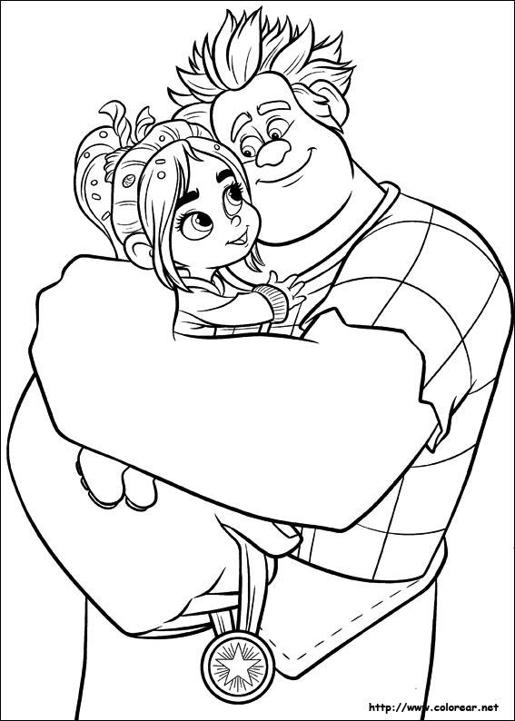 Disney Coloring Pages Wreck It Ralph : Dibujos para colorear de ralph el demoledor