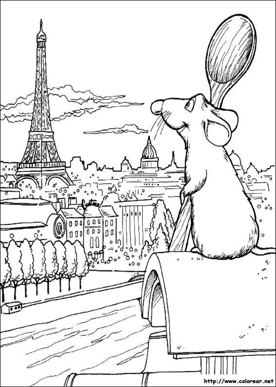 Dibujos para colorear de Ratatouille