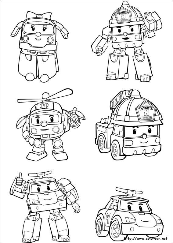 Dibujos para colorear de robocar poli - Dessin robocar poli ...