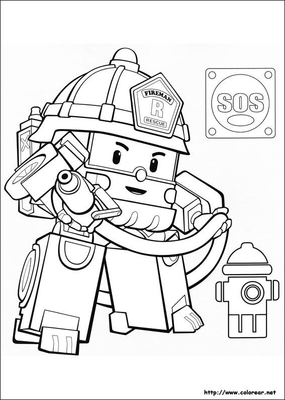 Dibujos para colorear de Robocar Poli