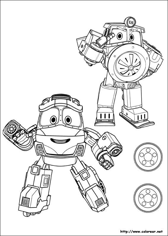 Dibujos para colorear de Robot Trains