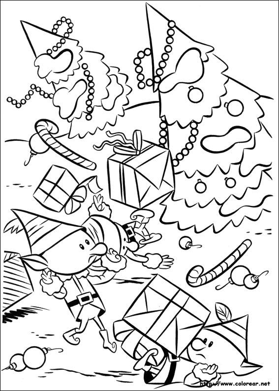 Dibujos De Rudolph El Reno De La Nariz Roja Para Colorear