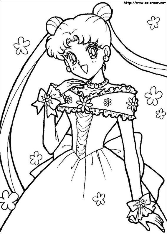Dibujos De Sailor Moon Para Colorear En Colorearnet