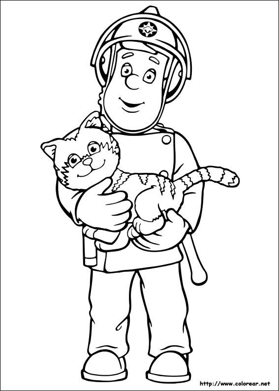 dibujos para colorear sam el bombero