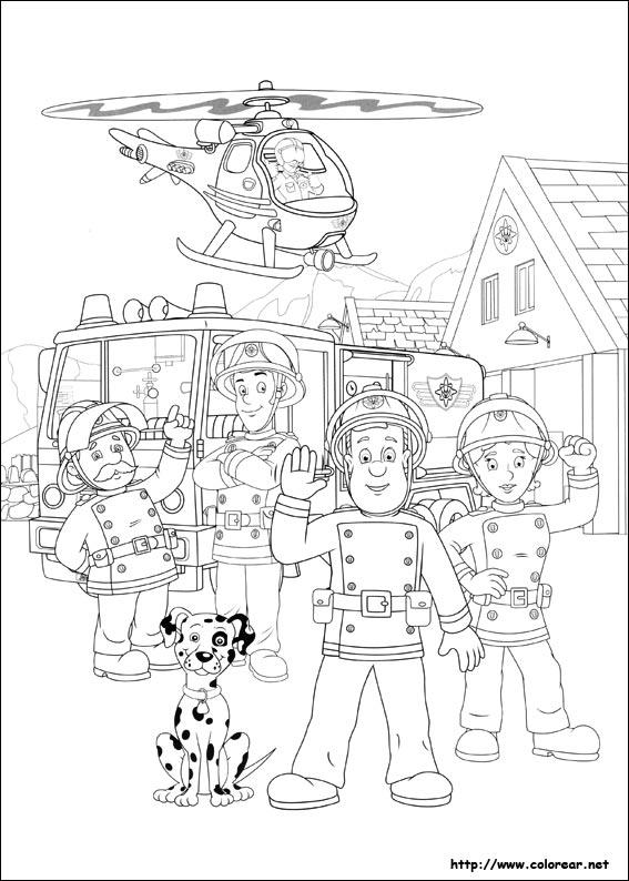 Dibujos de Sam El Bombero para colorear en Colorear.net