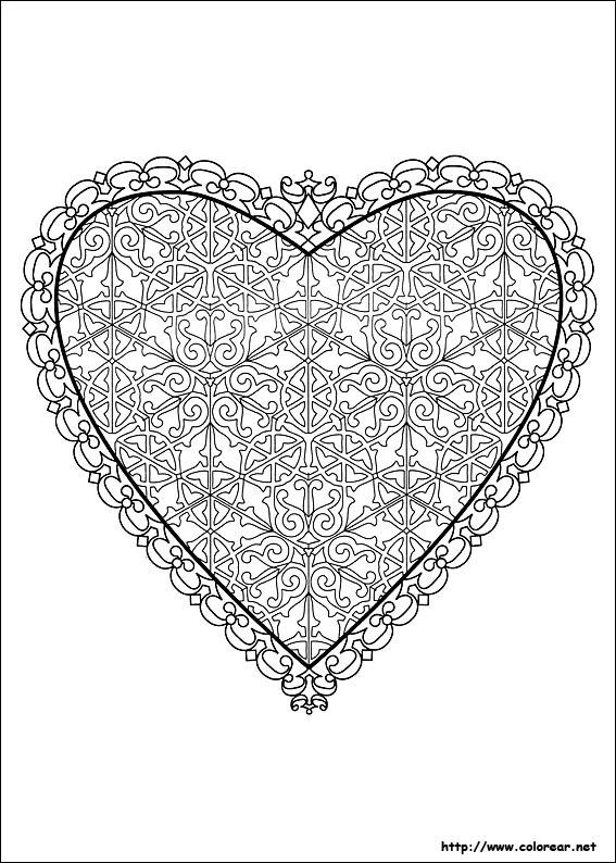 Dibujos para colorear de San Valentín