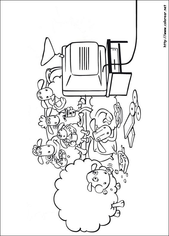 Dibujos para colorear de La oveja Shaun