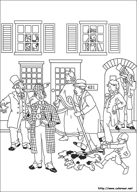 Dibujos para colorear de sherlock holmes - Dessin de sherlock holmes ...