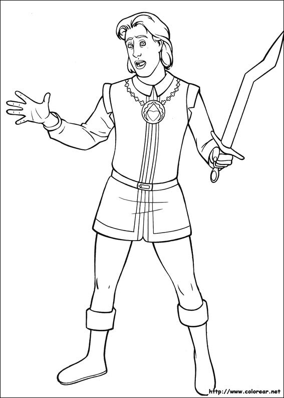 Dibujos para colorear de shrek tercero for Rumpelstiltskin coloring pages