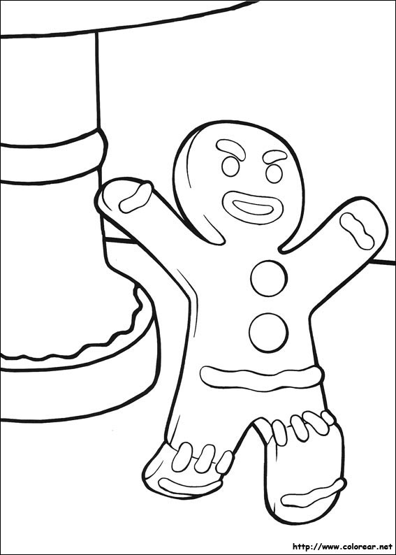 Dibujos para colorear de Shrek Tercero