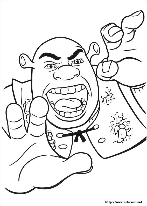Dibujos para colorear de Shrek : Felices para Siempre