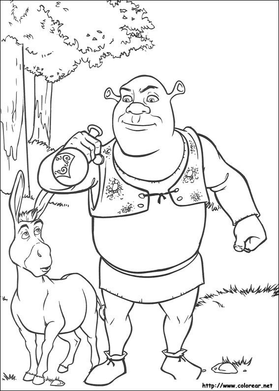 Dibujos para colorear de Shrek