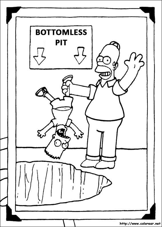 Dibujos Para Colorear De Los Simpson