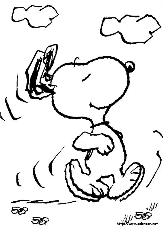 Dibujos Para Colorear De Snoopy