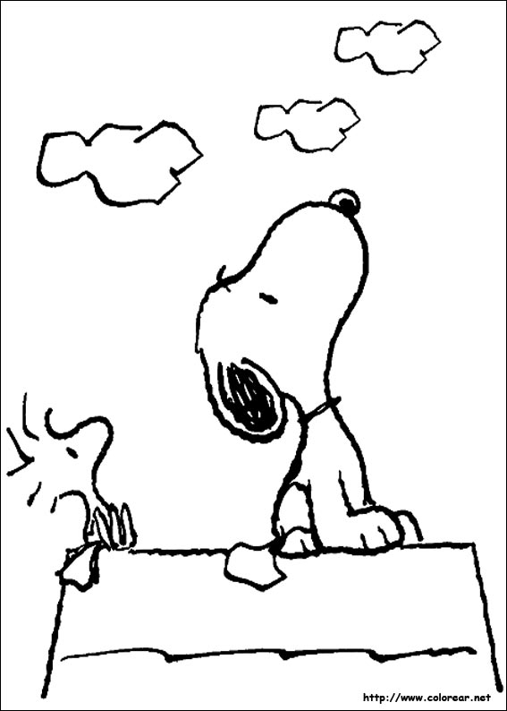 woodstock and snoopy coloring pages - photo#15