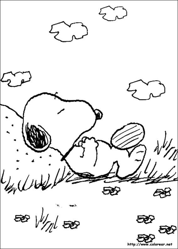 snoopy coloring pages - dibujos para colorear de snoopy
