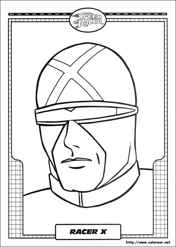 Dibujos para colorear de speed racer for Speed racer coloring pages