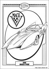 Dibujos de speed racer para colorear en for Speed racer coloring pages