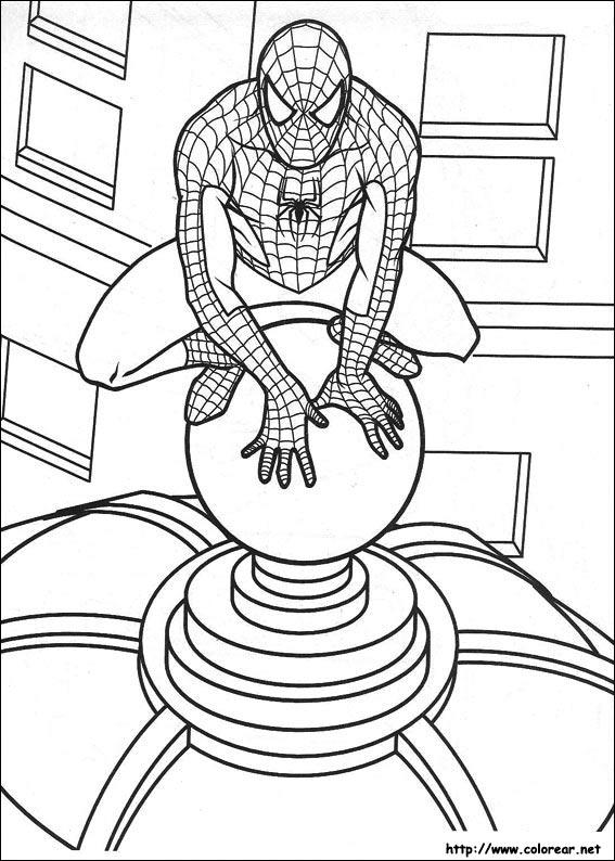 Dibujos para pintar del hombre araña - Imagui