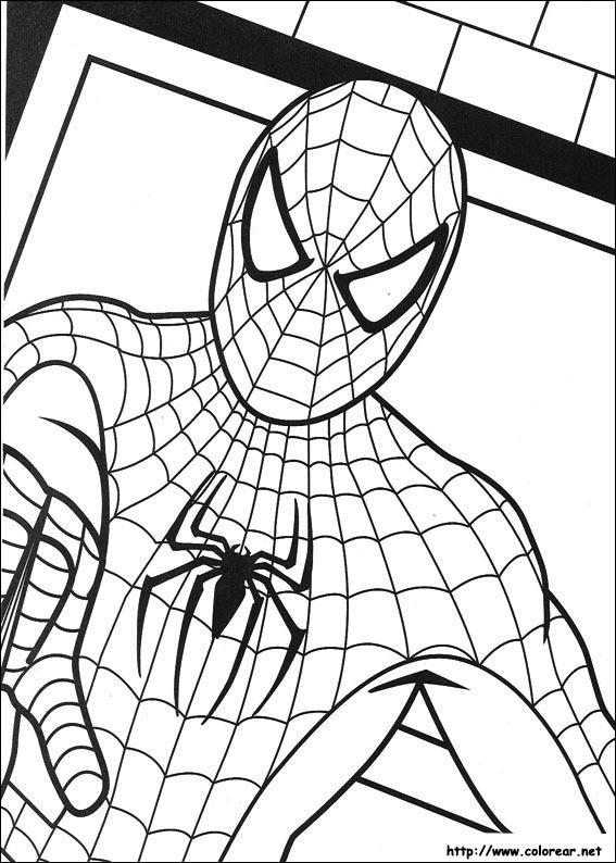 Dibujos de Spiderman para colorear en Colorear.