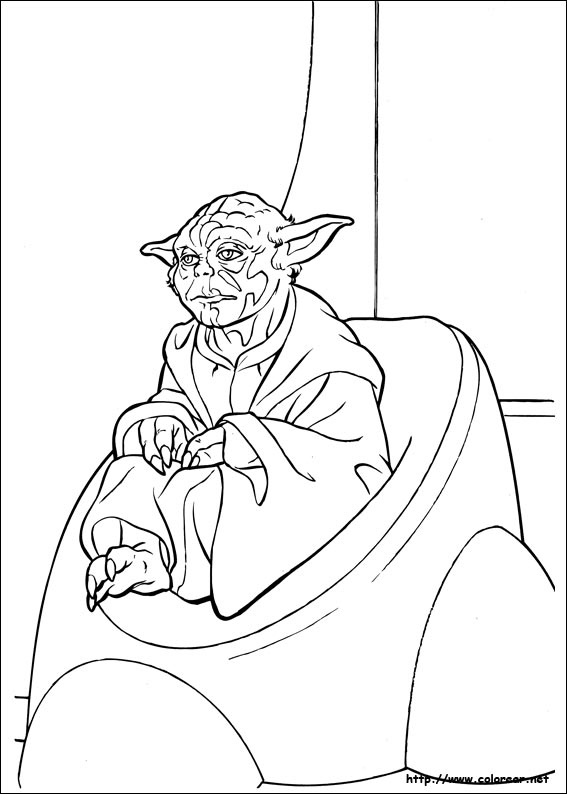 Easy yoda coloring pages