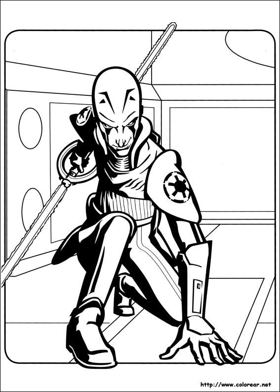 Dibujos para colorear de Star Wars Rebels
