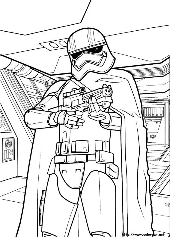 Dibujos para colorear de Star Wars: El despertar de la fuerza