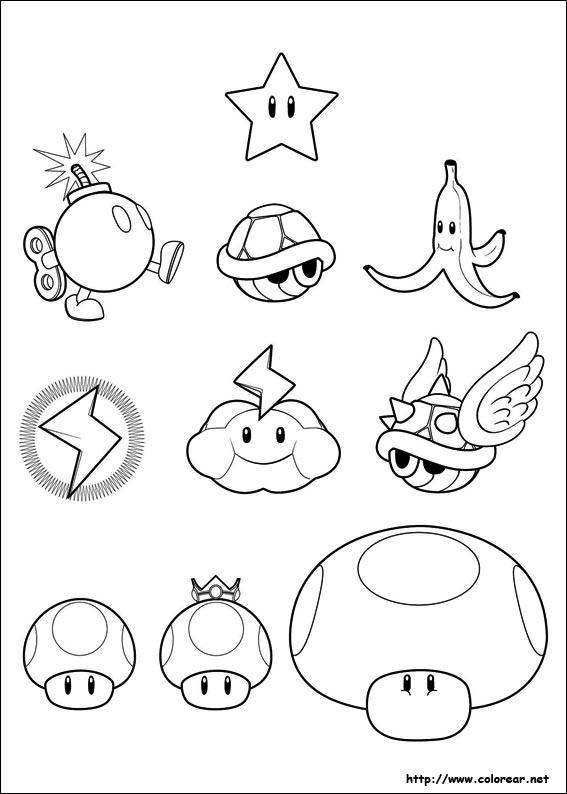 Dibujos de Super Mario Bros. para colorear en Colorear.