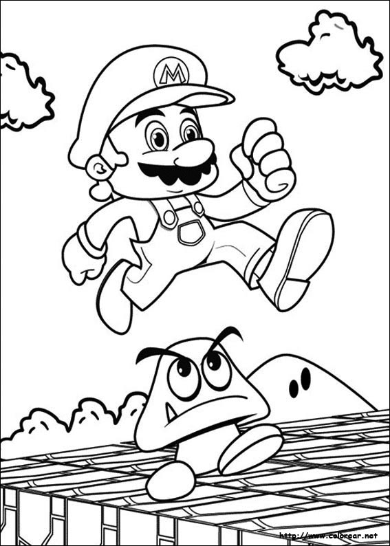 super mario brothers coloring page - new super mario bros u coloring pages coloring pages