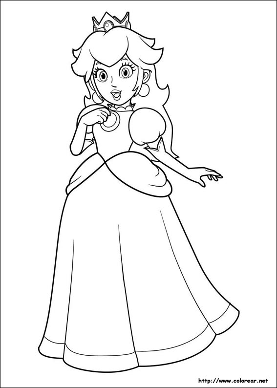 Free coloring pages of eminem dibujo - Super Mario Peach Colouring Pages
