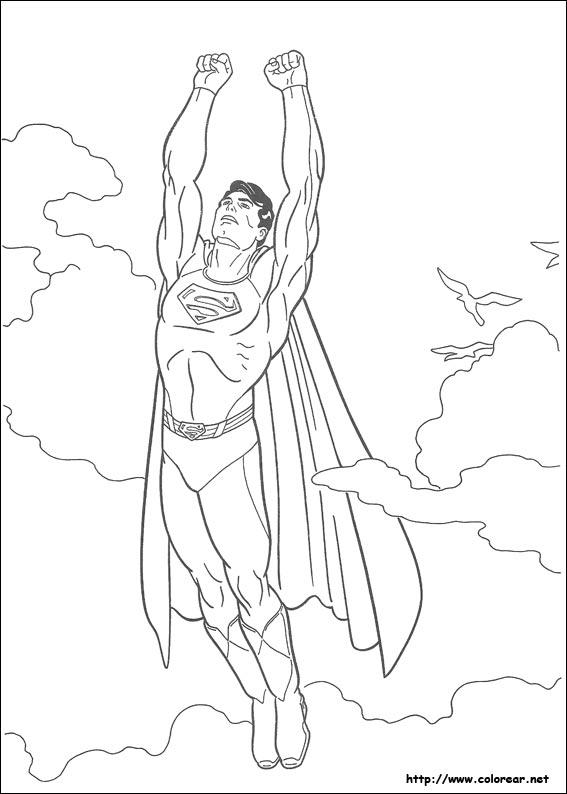 Dibujos para colorear de superman for Dibujos de murales para pared