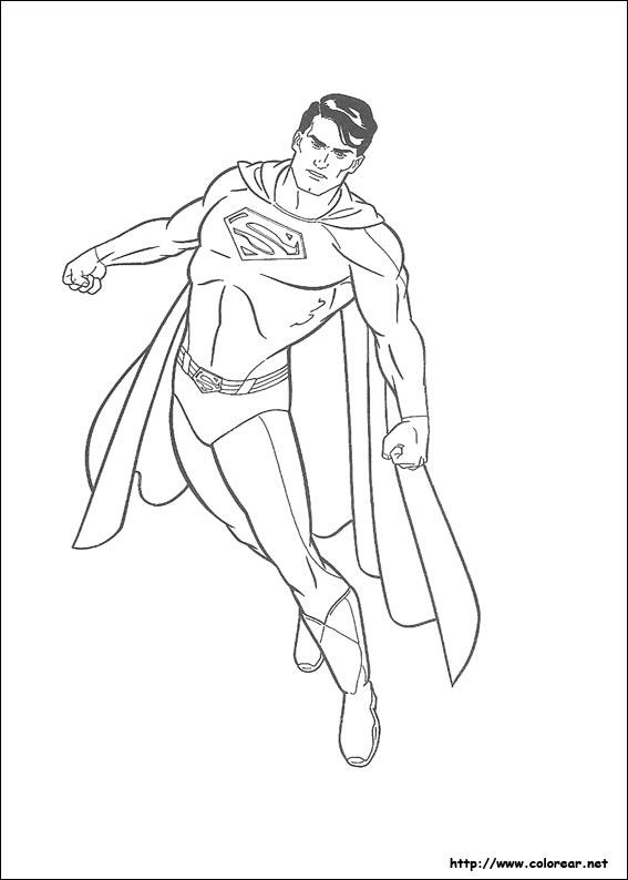 dibujos para colorear superman