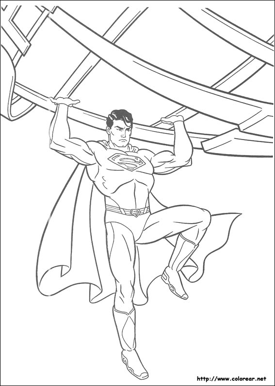 Dibujos para colorear de superman for Super man coloring page