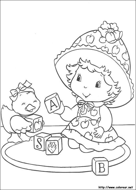 Dibujos para colorear de Tarta de Fresa