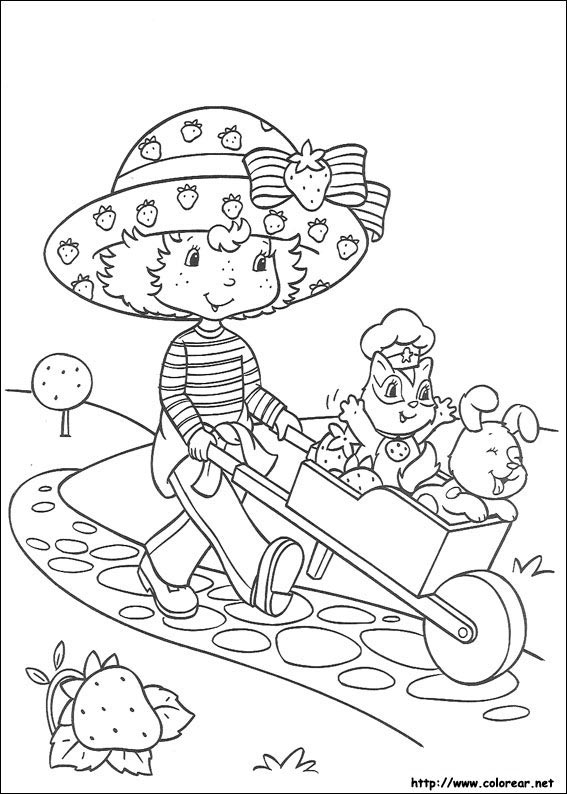 Dibujos de Tarta de Fresa para colorear en Colorearnet