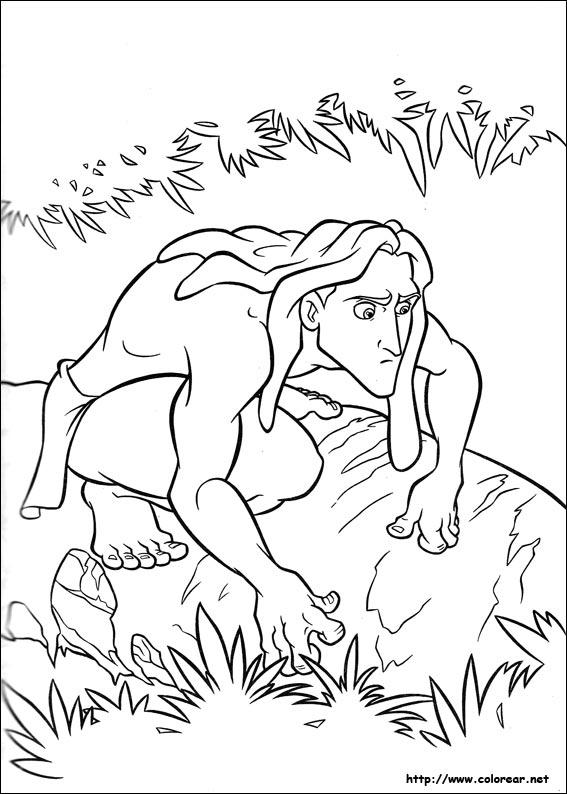 Dibujos de Tarzán para colorear en Colorear.net