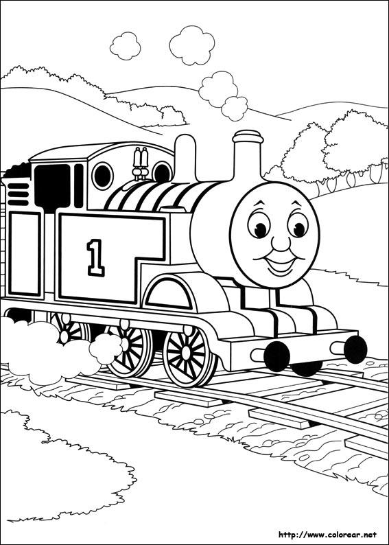 Dibujos de Thomas y sus amigos para colorear en Colorear.net