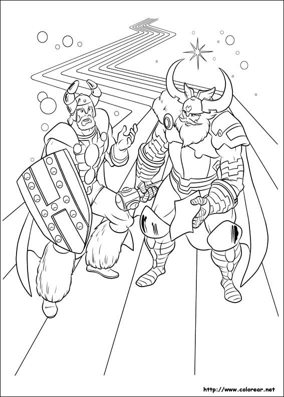 Dibujos de Thor para colorear en Colorear.net