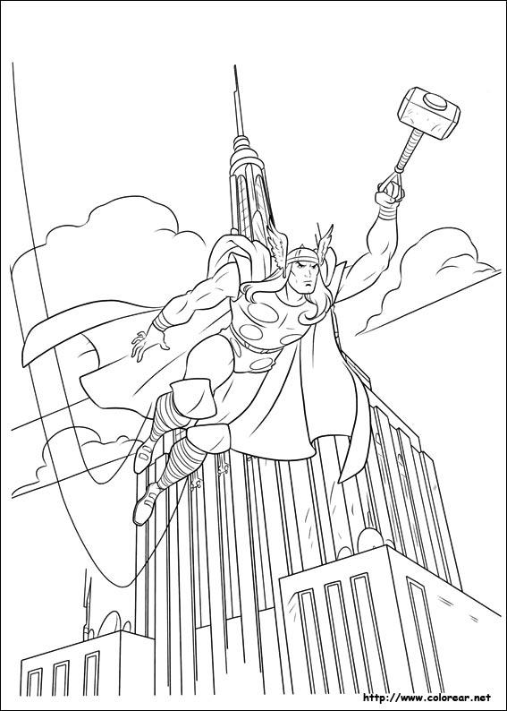 Dibujos De Thor Para Colorear En Colorearnet