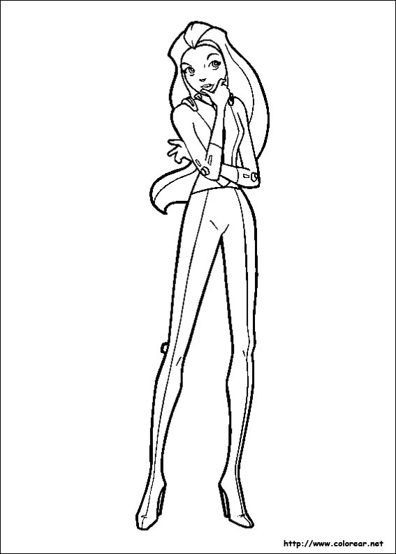 Dibujos para colorear de totally spies - Totally spies coloriage ...