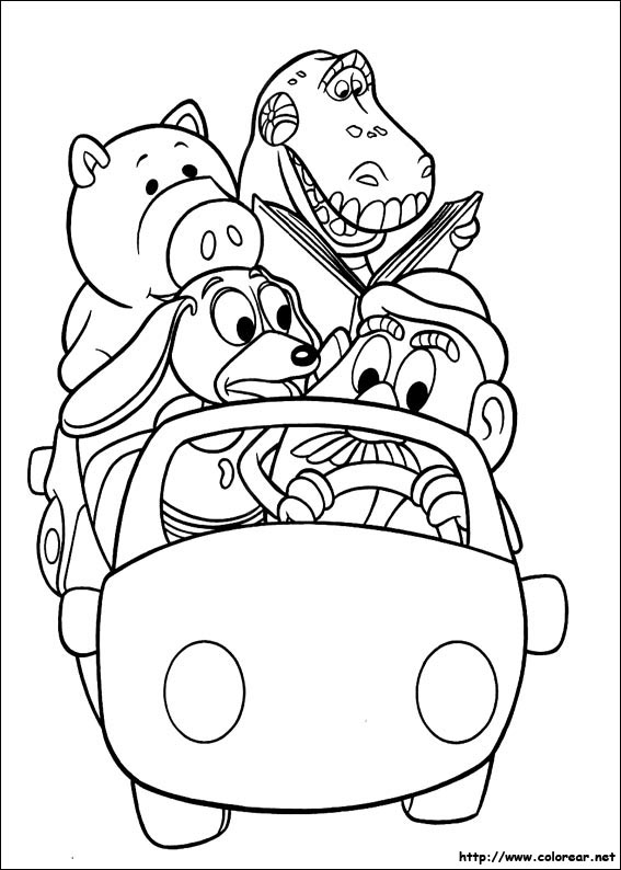 toy story coloring pages rexall - photo#1
