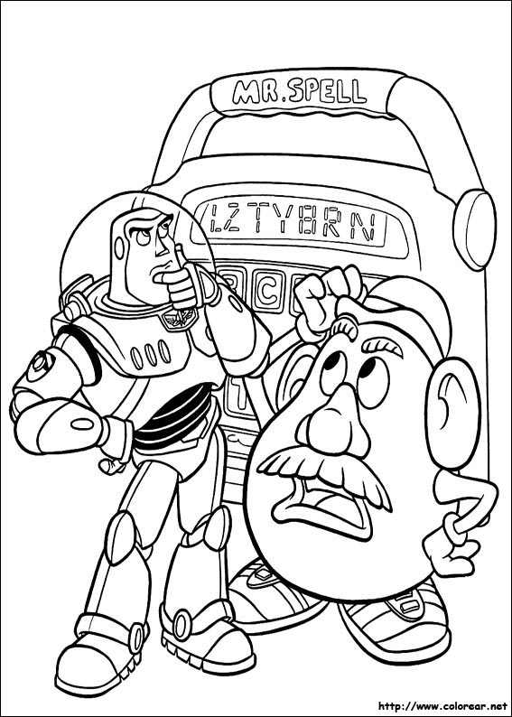 Dibujos para colorear de Toy Story