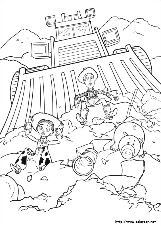 Dibujos Para Colorear De Toy Story 3 Story 3 Colouring Pages