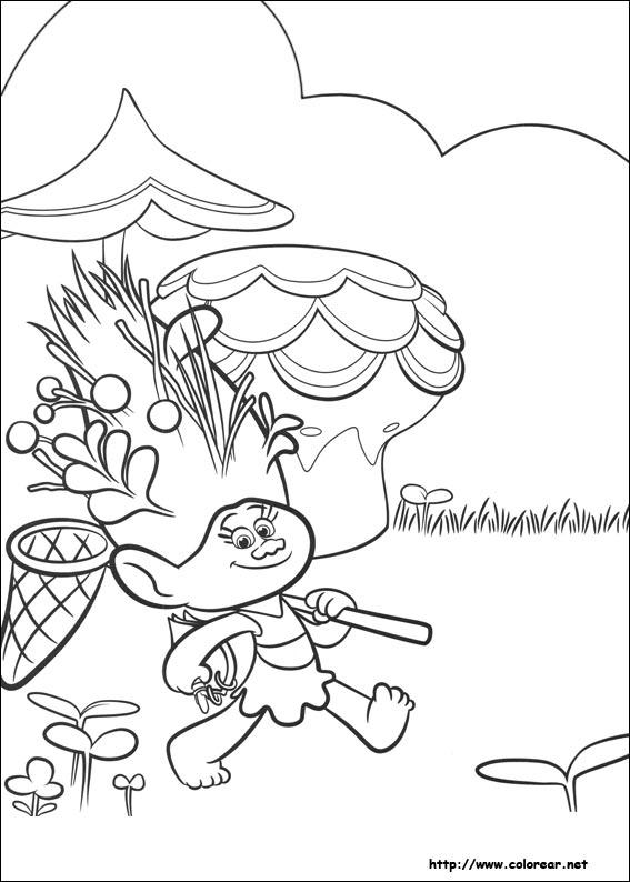 Dibujos para colorear de Trolls