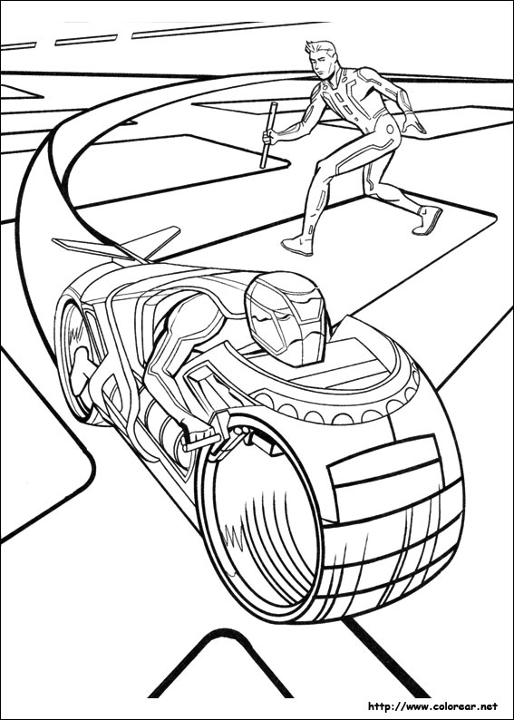 Tron Printable Coloring Pages