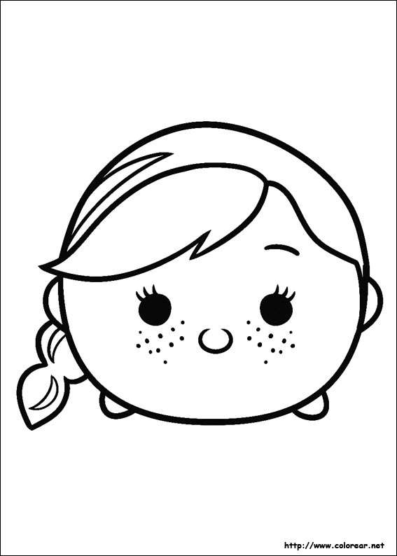 Dibujos para colorear de tsum tsum for Tsum tsum coloring pages