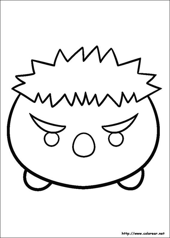 Dibujos para colorear de Tsum Tsum - Top Coloring Pages for Kids