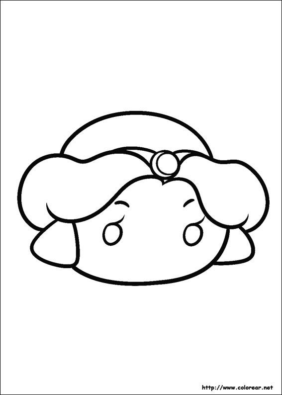 Dibujos para colorear de tsum sketch coloring page