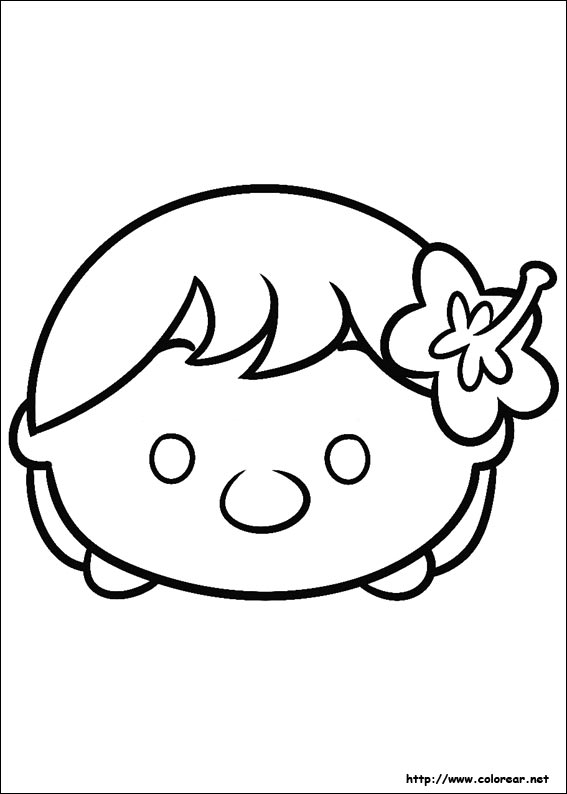 Dibujos para colorear de Tsum Tsum - Top Coloring Pages for Kids